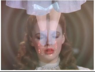 Dorothy closes eyes