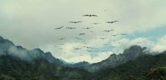 Jurassic World pteranodon attack